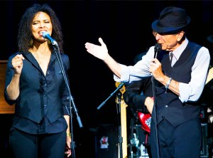 Sharon Robinson with Leonard Cohen
